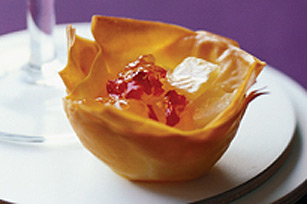 Mini Brie and Pepper Jelly Phyllo Cups Image 1