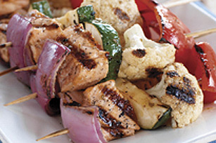 Greek Salmon Kabobs Image 1