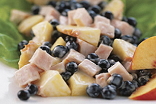 Creamy Smoked Chicken and Blueberry Salad