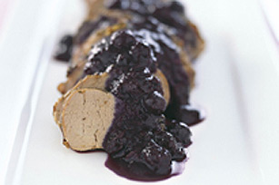 Grilled Pork Tenderloin with Port Blueberry Compote