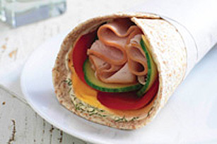 Creamy Turkey & Cheese Wrap