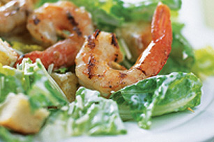 Creamy Grilled Shrimp Caesar Salad
