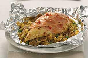 Foil-Pack Chicken & Mushroom  Dinner