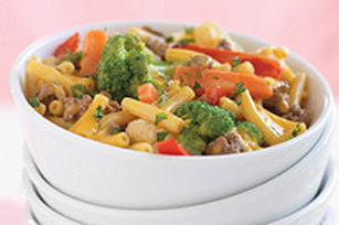 Beef, Vegetable and Macaroni Skillet