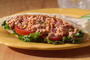 Pita sandwich à la salade de saumon
