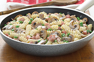 Ham and Cheese Noodle Skillet