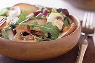 Warm Apple Salad with Bacon