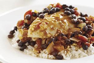 Poulet du Sud-Ouest avec haricots noirs et riz Image 1