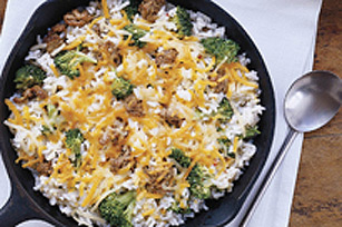 One Pot Beef and Rice Skillet