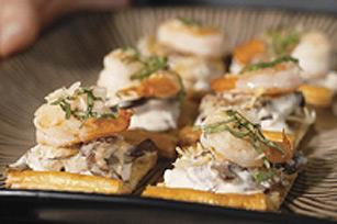 Canapés aux crevettes et aux champignons  Image 1