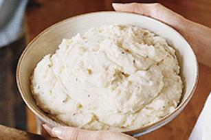 Purée de pommes de terre à l'oignon et à la ciboulette