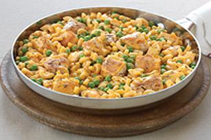 Poêlée de poulet au fromage