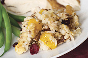 Peaches and Pecan Rice Stuffing Image 1