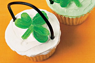 Cream Cheese Clover Cupcakes