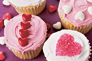 Fluffy JELL-O Heart Cupcakes Image 1