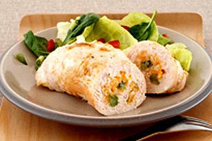 Paupiettes de poulet au fromage et au riz