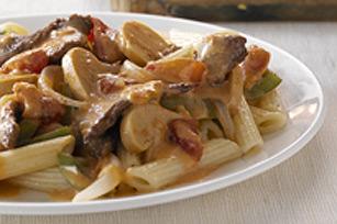 Poêlée éclair de pâtes et de bœuf en sauce Image 1
