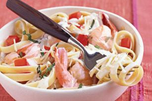 Pâtes aux crevettes faciles