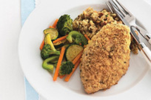 No-Fuss Crispy Chicken Dinner