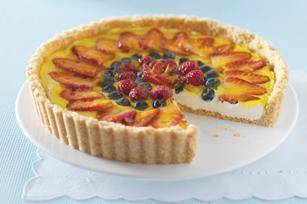 Triple-Berry Cheesecake Tart