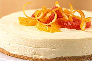 Gâteau au fromage aux agrumes sans cuisson