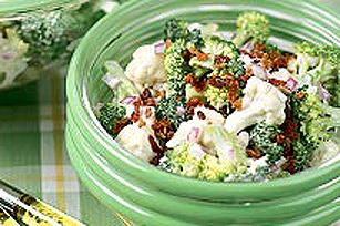 Tangy Broccoli and Cauliflower Salad Image 1