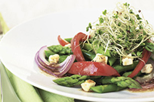 Grilled Asparagus and Pepper Salad