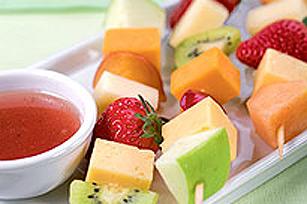 Brochettes de fruits et de fromage Image 1