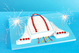 Blast-Off Spaceship Cake