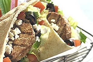 Pita au burger végétarien à la grecque