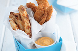 Oven-Fried Chicken Fingers and Fries Image 1