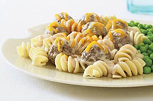 Poêlée de boulettes de viande au fromage