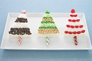 Arbres de Noël étincelants en gâteau