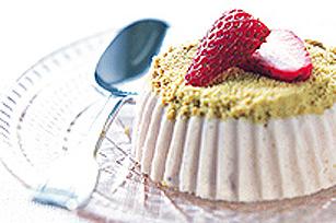 Mini-gâteaux au fromage aux fraises glacés