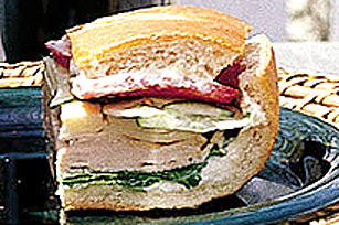 Turkey and Swiss Sandwich Image 1