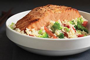 Souper de saumon à l'asiatique