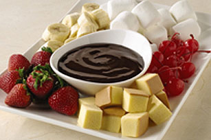 Fondue pour amoureux du chocolat noir