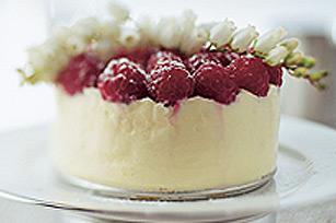 Gâteau au fromage au chocolat  blanc TOBLERONE et aux framboises Image 1