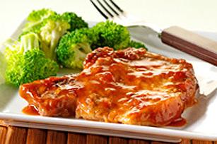 Côtelettes de porc en sauce au four