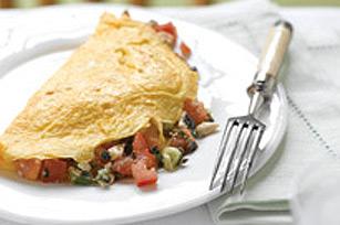 Simple omelette à la grecque