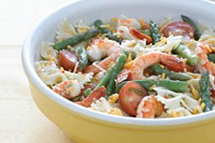 Salade de pâtes et de crevettes au citron