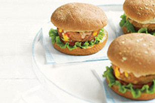 Southwestern-Stuffed Turkey Burgers