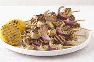 Brochettes de poulet grillées à la grecque