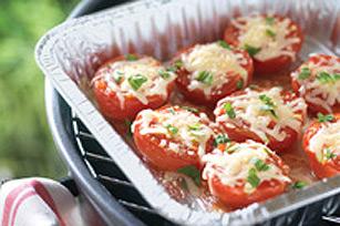 Tomates gratinées au fromage