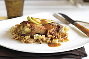 Glazed Stuffed Pork Chops