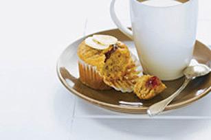 Muffins surprise au beurre d'arachide et aux bananes