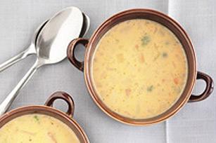 Soupe aux légumes et au fromage