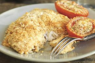 Poisson croustillant avec tomates au parmesan Image 1