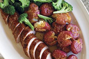 Porc à l'orange, pommes de terre au parmesan Image 1
