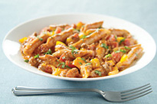 Cheesy Beef & Pasta Skillet